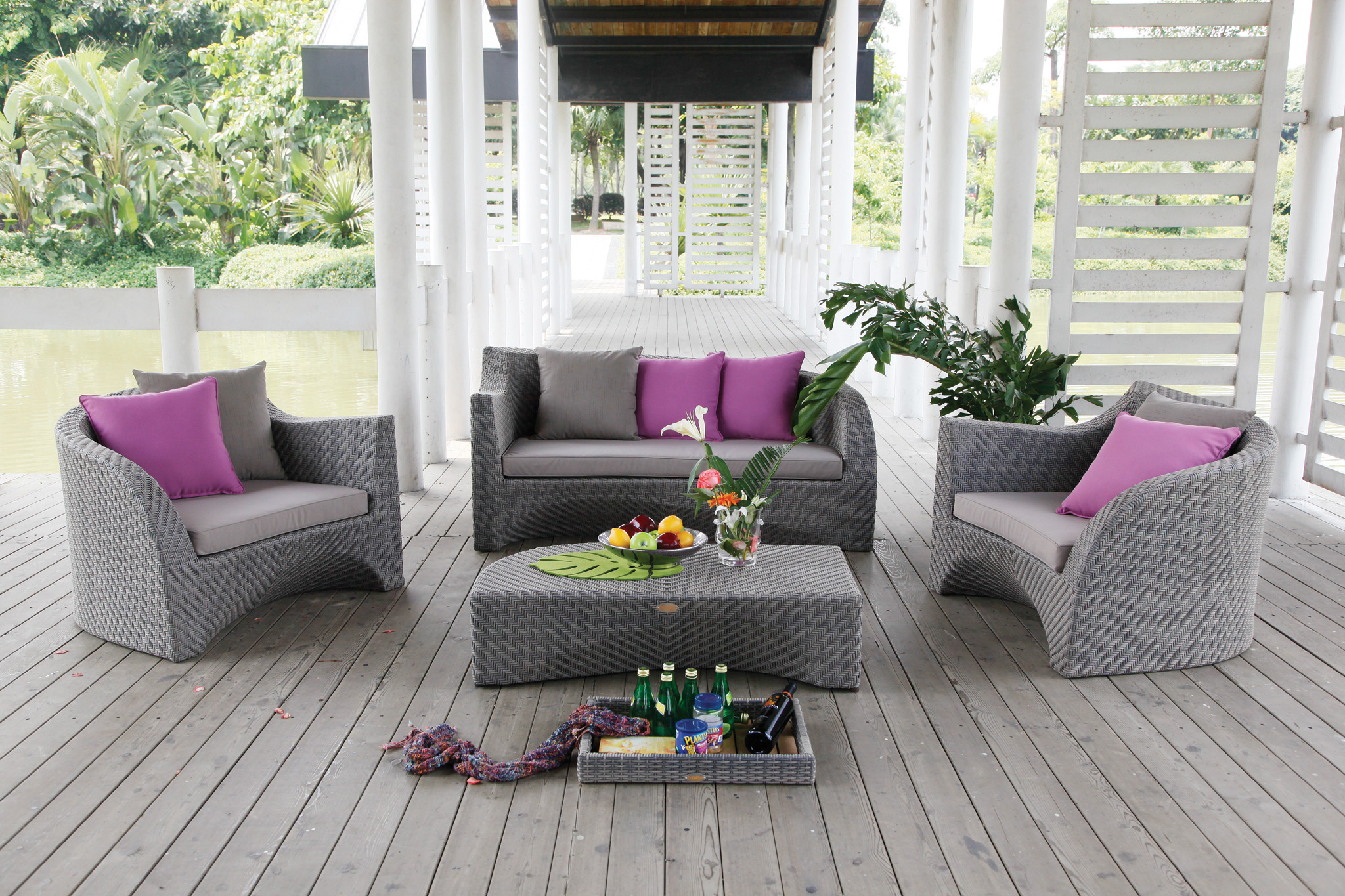 Mobiliers de jardin le blog du design ext rieur for Salon en rotin exterieur