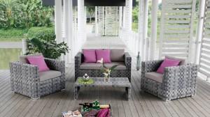 Salon de jardin Tullia en rotin
