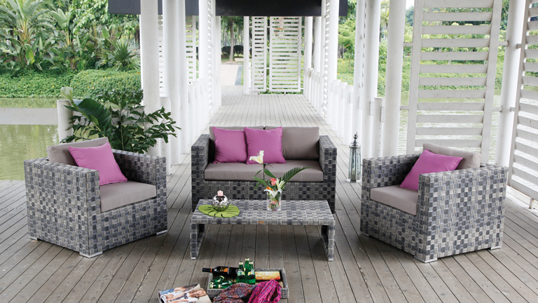 Salon jardin tresse designs rotin accueil design et mobilier for Salon en rotin exterieur